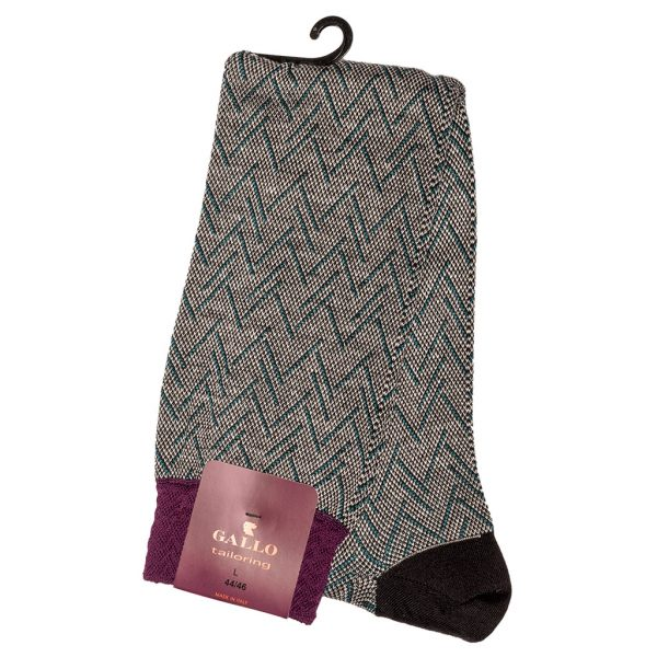 Calza Gallo lana cotone e lino