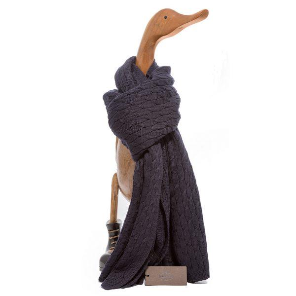 Sciarpa pura lana treccia Church's