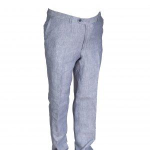 pantalone puro lino azzurro