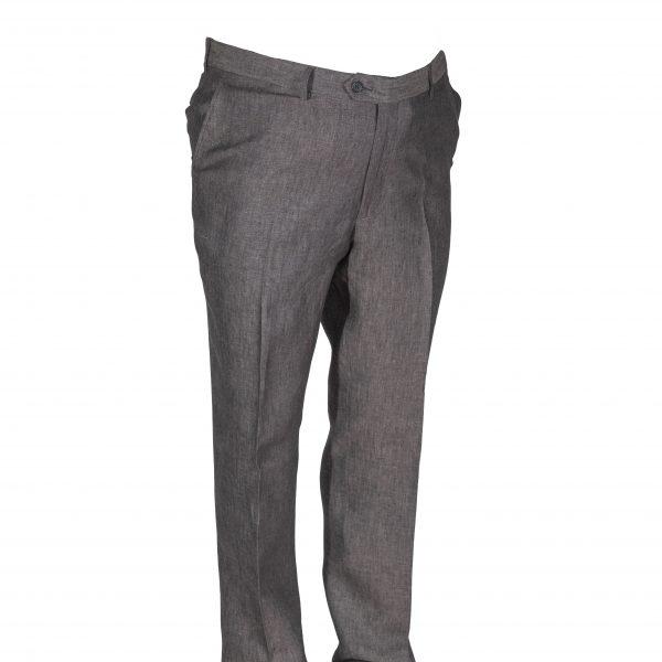 pantalone puro lino delave grigio