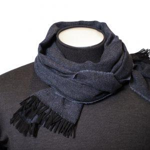 Sciarpa misto lana microdisegno