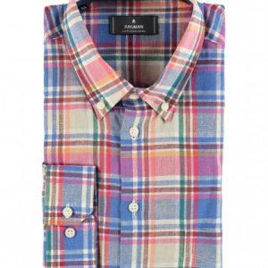 Camicia manica lunga cotone e lino